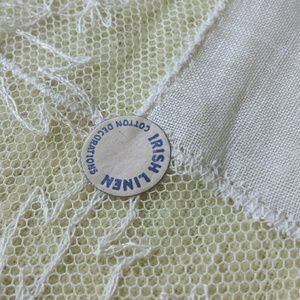 Beautiful Irish Linen 1950s Kerchief